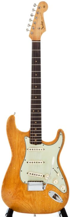 Musical Instruments:Electric Guitars, 1963 Fender Stratocaster Natural Solid Body Electric Guitar,#L16425.... Image #1