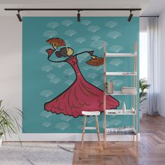Buy Flamenco dancer Wall Mural by giuseppelentini. Worldwide shipping available at Society6.com. Just one of millions of high quality products available.