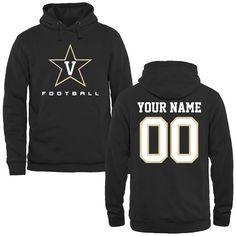 Vanderbilt Commodores Personalized Football Pullover Hoodie - Black - $69.99