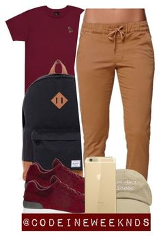 """""""11/30/15"""" by codeineweeknds ❤ liked on Polyvore featuring October's Very Own, Herschel, Bullhead Denim Co. and New Balance"""