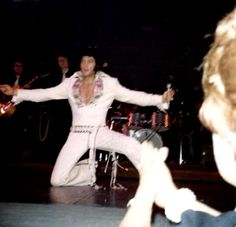 Elvis on stage at the Las Vegas Hilton january/february 1970.