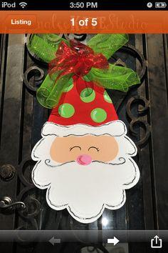 Santa Burlap Hanger