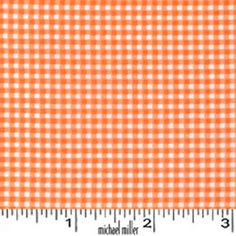 Orange Tiny Gingham Michael Miller Mini Mikes by NauvooQuiltCo, $4.85