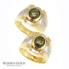 Gold rings with gemstones TCR85804