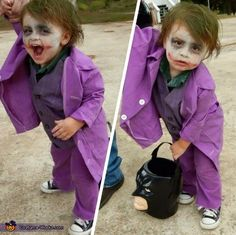 baby joker costume - Joker Halloween Costume Kids