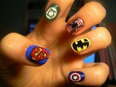 26 Fotos de uñas decoradas con Superhéroes | Decoración de Uñas - Manicura y NailArt