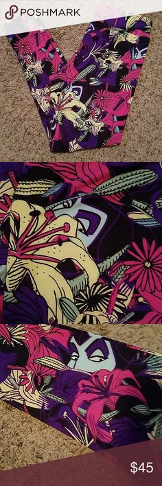 LulaRoe TC Maleficent Leggings💚💜🖤 NWOT LulaRoe TC Maleficent Leggings. LuLaRoe Pants Leggings