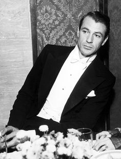 Gary Cooper at the first Screen Actors Guild Ball, 1934 - one of my favorite Old School Movie Men