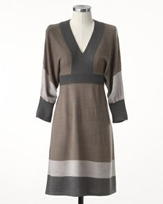 Dolman colorblock dress #ColdwaterCreek