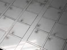 Great image of using a laser cutter to produce a ventilation pattern in 304 stainless steel sheet. Flat Shapes, Simple Shapes, Metal Manufacturing, Sheet Metal Work, Stainless Steel Sheet, Cad Cam, Metal Panels, Sheet Sizes, Galvanized Steel