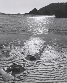 At Muir Beach, California by Ansel Adams Black And White Beach, Black And White Landscape, Black N White Images, Ansel Adams Photography, Beach Photography, Nature Photography, Color Photography, Great Photographers, Landscape Photographers