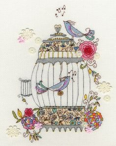 Love Birds Cross Stitch Kit - £24.00 on Past Impressions
