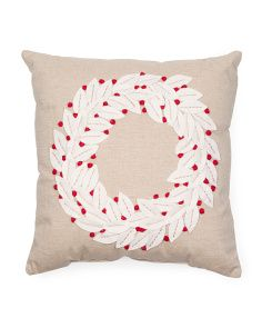 image of 20x20 Wreath Pillow