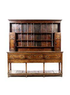 18th Century English Oak Welsh Dresser