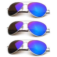82b5023450 zeroUV® - Premium Full Mirrored Aviator Sunglasses w  Flash Mirror Lens   1.43 Mirrored Aviator