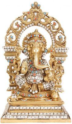 An exhaustive collection of Hindu Statues and Sculptures ranging from Shiva Lingas to Nataraja, Lord Ganesha to Lord Krishna and more at ExoticIndia. Ganesha Pictures, Ganesh Images, Ganesh Rangoli, Om Gam Ganapataye Namaha, Hindu Statues, Sri Ganesh, Shiva Linga, Ganesh Wallpaper, Indian Artwork