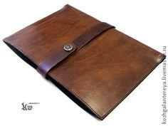 Кожаный чехол для Apple iPad 4 5 на заказ - Античный - однотонный,коричневый