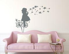 Dandelion Wall Decals Flower Butterflies Decal by LollipopDecals