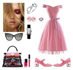 """Pink ladies!"" by xenija-kaluza on Polyvore featuring Fendi, Prada, Tom Ford, Chanel, Christian Dior and Cartier"