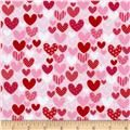 Riley Blake Sweetcakes Hearts Red - Discount Designer Fabric - Fabric.com