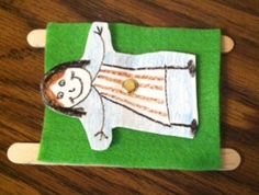 This fun craft, based on Mark will help children remember the miracle Jesus performed when he healed a paralytic. This is just one of many miracles Jesus performed to demonstrate he was the promised Messiah of the Old Testament. Bible Study Crafts, Bible School Crafts, Bible Crafts For Kids, Kids Bible, Preschool Bible Crafts, Sunday School Projects, Sunday School Activities, Sunday School Lessons, Preschool Bible Lessons