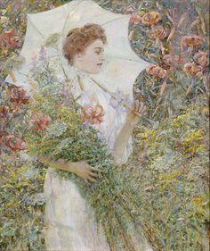 Robert Reid - The White Parasol [c.1907]