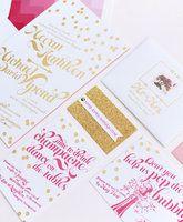 Fuchsia & Gold Invitations  Style Me Pretty - The Ultimate Wedding Blog