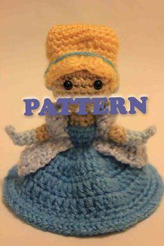 PATTERN Cinderella Princess Crochet Doll Amigurumi by Sahrit, $4.95