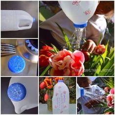 Milk carton watering can