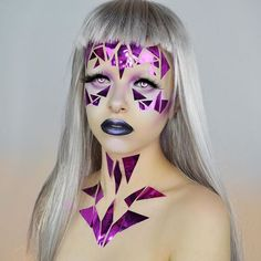 This look is called: I was uninspired so I went to the dollar tree and found this shiny paper and cut it up and glued it to my face. Who inspires you? Tag them in the comments below! Love you guys