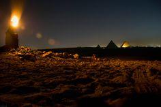 Night in the desert. Pyramids (Egypt) // noche en el desierto. Pirámides (Egipto)