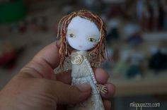 Winter Girl Art doll brooch Boho girl by miopupazzo on Etsy