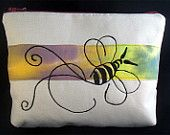 E-Reader sized pouch. Free machine embroidered design