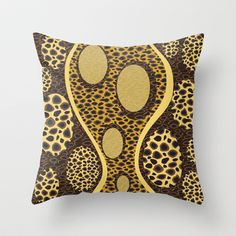Cheetah Print in Yellow Throw Pillow cover by Ramon Martinez Jr - $20.00