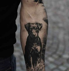 Cute and lovely dog tattoos ideas for dog lovers 05