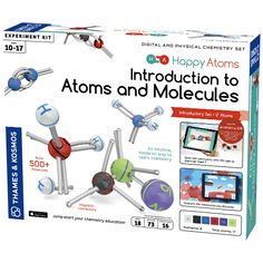 This Happy Atoms Introduction to Atoms & Molecules Kit by Thames & Kosmos is a revolutionary approach to teaching kids years digital and physical chemistry. Chemistry Set, Physical Chemistry, Teaching Chemistry, Teaching Kids, Atom Model, E 500, Carson Dellosa, Science Kits, Science Ideas