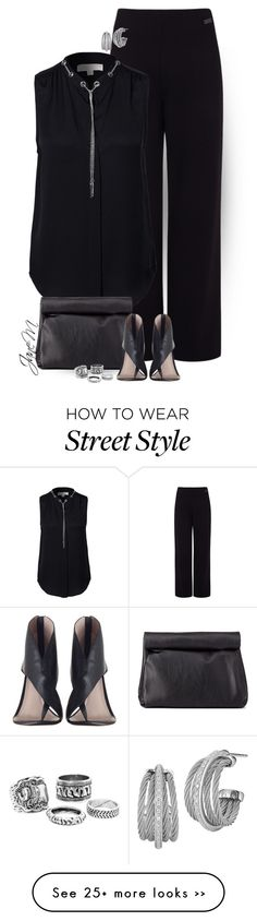 """Street style"" by janemichaud-ipod on Polyvore featuring Pink Tartan, MICHAEL Michael Kors, Charlotte Russe, Zimmermann and Charriol"
