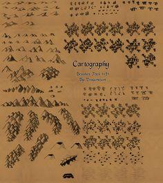 Cartography brushes by Eragon2589.deviantart.com on @DeviantArt