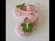 """Crochet Sandalias Bebé """"Trifina"""" Zapatitos (Parte 1) por Maricita Colours - YouTube"""