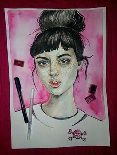 #daryasnoopy_art #art #artist #watercolor #drawing #painting #portrait #girl