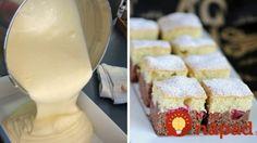 Koláč, ktorý zatieni aj drahé a zložité zákusky: Vyskúšajte šľahačkovú bublaninu dvoch farieb! Krispie Treats, Rice Krispies, Czech Desserts, Vanilla Cake, Tiramisu, Cheesecake, Deserts, Dairy, Dessert Recipes