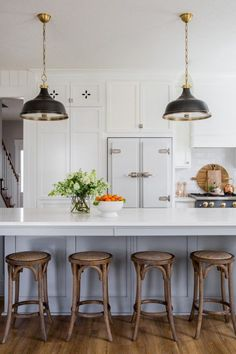 Step inside this vintage farmhouse kitchen that includes wonderful details throughout. The homeowner thought of everything!