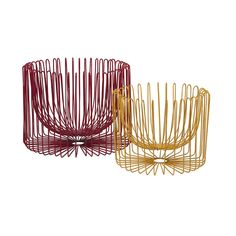 "Floating Wire Bowls - Set of 2 | dotandbo.com fruit bowl and/or shelf decor $80 Dimensions (Large): 18"" Diam. x 12.5"" H Dimensions (Small): 13"" Diam. x 10.25"" H Material: Wire Includes: Set of 2 baskets 3-4 wks, final sale"