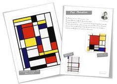 Mondrian style alphabet art