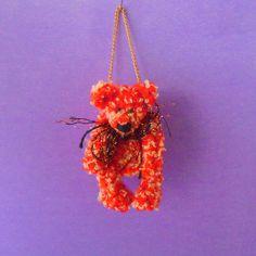 ac8b3d39bc Tiny Crochet Teddy Bear Purse With Clasp. The body is 3