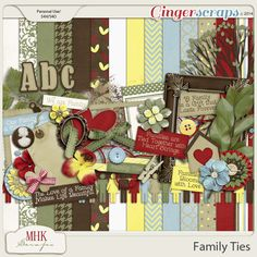 Family Ties by MHK Designs http://store.gingerscraps.net/Family-Ties.html