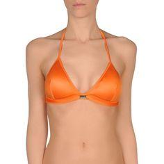 La Perla Bikini Top (£36) ❤ liked on Polyvore featuring swimwear, bikinis, bikini tops, orange, swim suit tops, la perla, tankini top, la perla bikini and orange bikini top