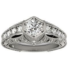 Transcendent Brilliance 14k Gold 1 1/4ct TDW White Diamond Antique Victorian Style Engagement Ring (F-G, VS1-VS2) (