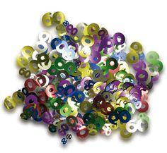 Confetti 60 in verschillende kleuren. De inhoud van dit zakje 60 confetti is ongeveer 15 gram. Versier uw feest met deze gekleurde 60 confetti.