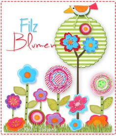 Mäde! by Kasia: Felt Flowers Embroidery File and Freebie